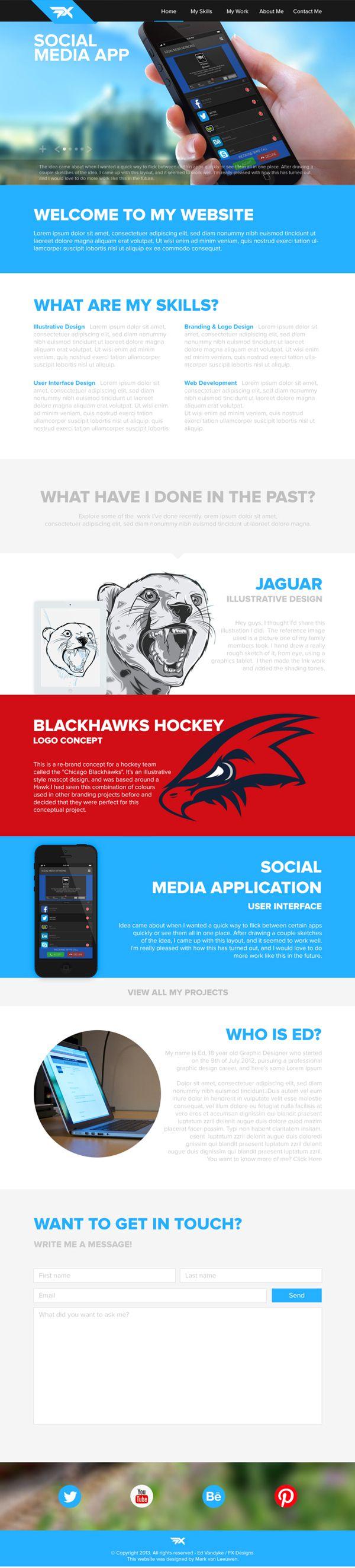 FX Designs Website by Mark van Leeuwen, via Behance