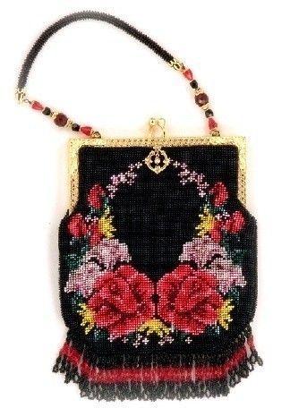 Reflections ( Crocheted Beaded Purse Pattern ) PDF Digital Download. beadwoven purse via Etsy.