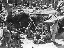 Colonel David Shoup's command post on Red Beach