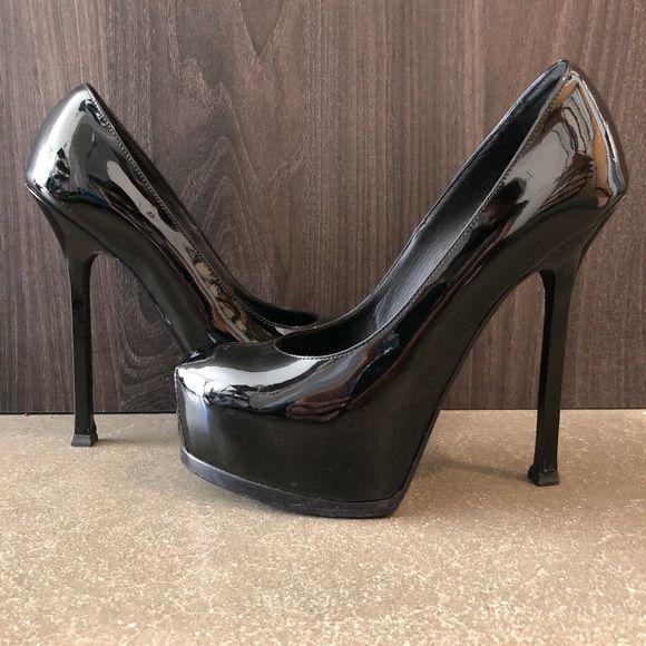bbec4c87dae YSL Yves Saint Laurent Black Patent Pumps No box No Tags No dust bag ...