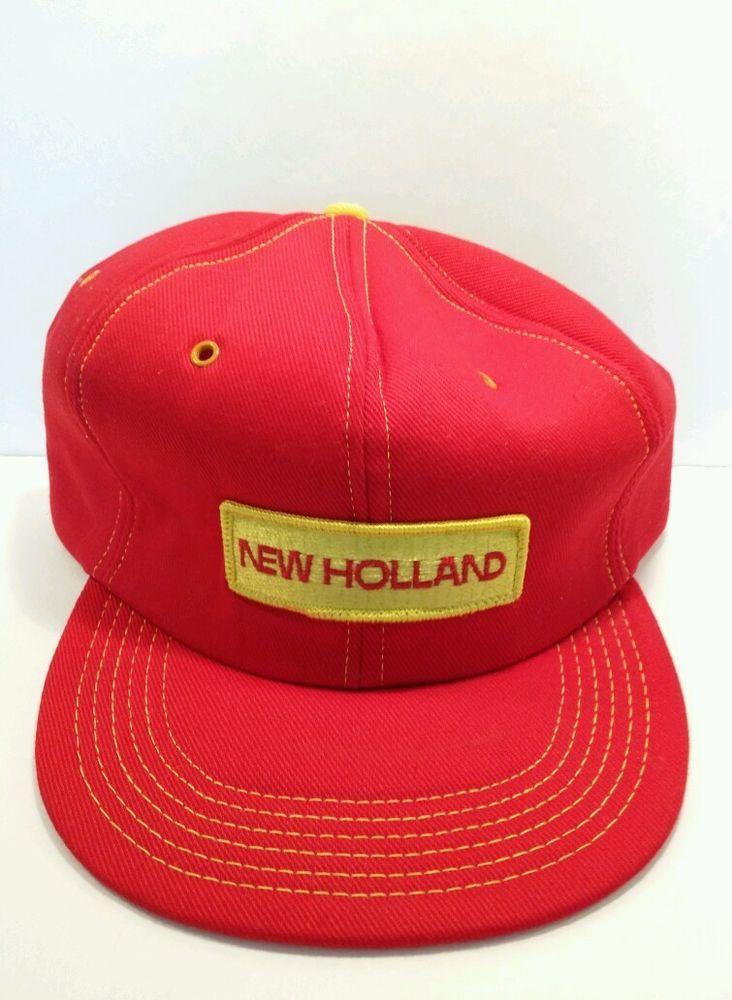 New Holland Tractor Hats : New holland tractor hats mens snapback trucker farming