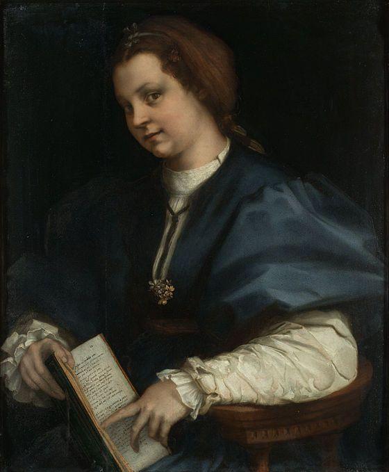 Dama col Petrarchino-Andrea del Sarto