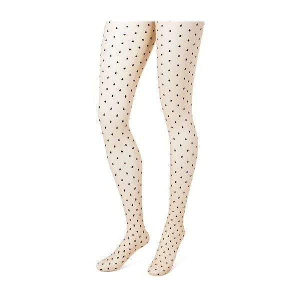 Women's Tights with Back seam Nude/Black Dots - Merona™ : Target ($10) ❤ liked on Polyvore featuring intimates, hosiery, tights, polka dot pantyhose, dotted stockings, nude pantyhose, polka dot hosiery and polka dot stockings