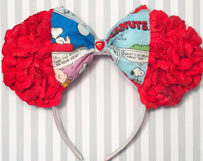 Peanuts Inspired Floral Mouse Ears