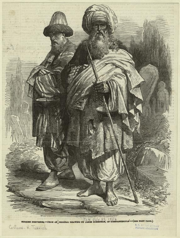 Turkish dervishes. (1854), NYPL Digital Collection