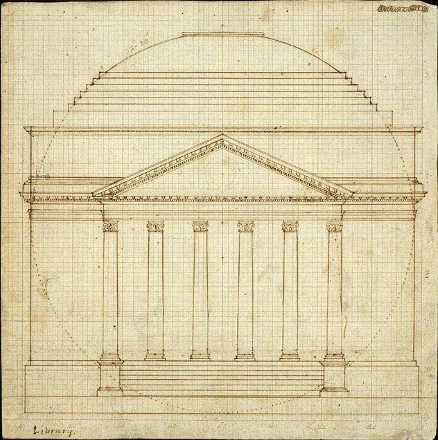 University of Virginia Rotunda 1819 draft - The Rotunda (University of Virginia) - Wikipedia, the free encyclopedia