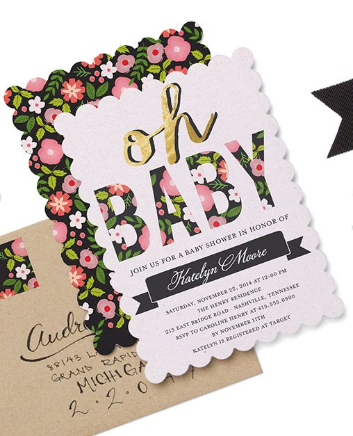 Personalize baby shower invitations at TinyPrints.com. An event for mother for a day she'll never forget.