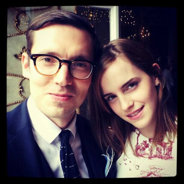 Emma with the stylist, Erdem one hour ago.