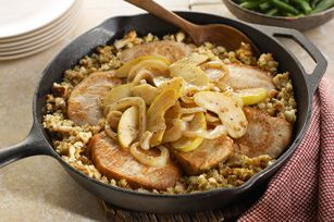 Stuffing-Topped Pork & Apple Skillet recipe