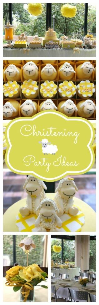 Sweet Sheep Boy's Christening Party {Baptism Ideas} - www.spaceshipsandlaserbeams.com