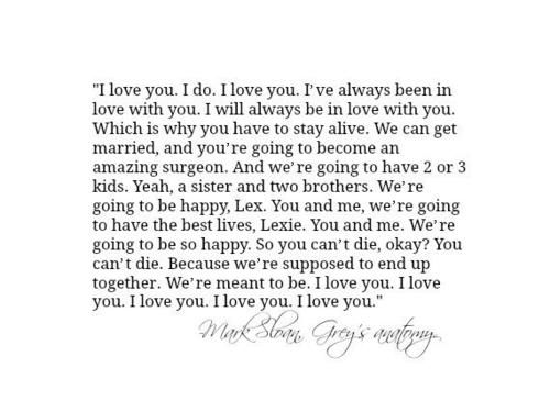Mark's last words to Lexie.