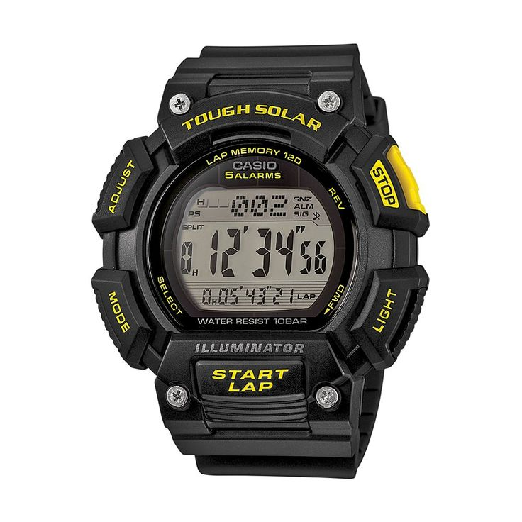 Casio Men's Tough Solar Digital Watch, Black