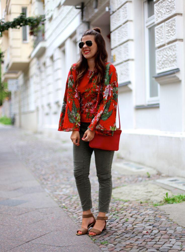 JOURlook: Khaki Jeans + Trompetenshirt - Journelles