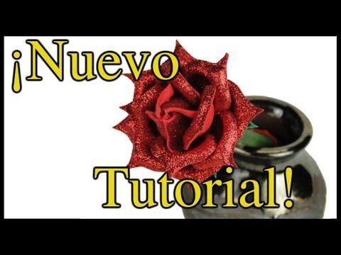 TUTORIAL: Bolígrafo decorado con Rosa de Fomi - Manualidades con Moldes ...