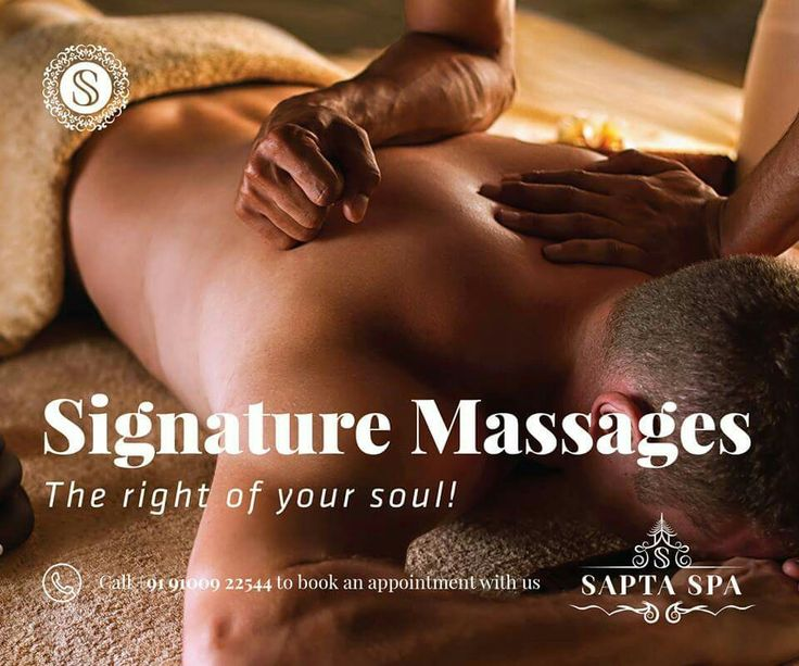 Signature Massages - The right of your soul!  Book an appointment with us now! Call +91 91009 22544