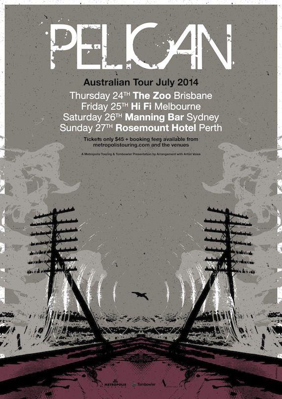 Pelican Australian Tour Poster 2014