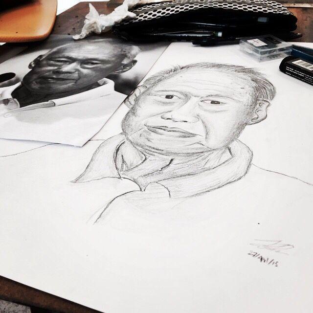 MR LKY portrait drawing