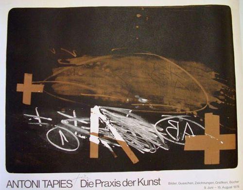 "Antoni Tápies: ""A effacé"" Plakat - O.-Lithographie - signiert/limitiert 1976   eBay"