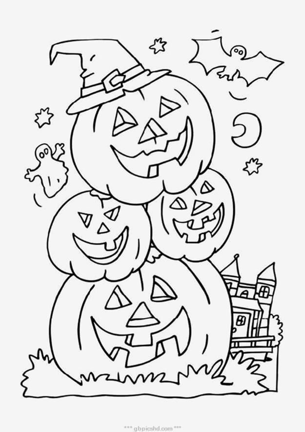 halloween bilder malen  halloween ausmalbilder