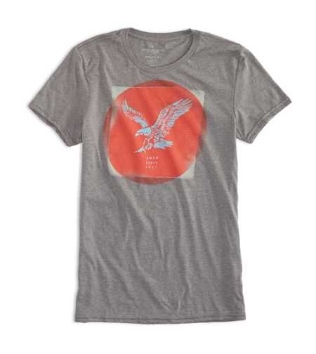 Camiseta American Eagle Men's Ae Eagle Graphic T City Grey Eagle