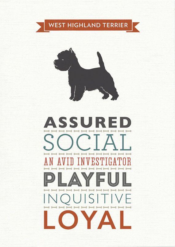 WINTER SALE: West Highland Terrier Dog Breed by WellBredDesign