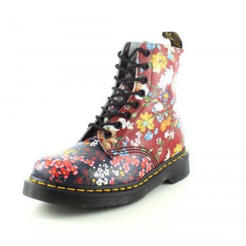 Dr. Martens Womens Floral Pascal Multi-Color Boot
