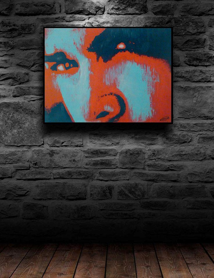 """Acryl Modern FineArt """"RedMansFace"""", 40x30cm, II-XVI, Dirk NeeRidsch.   Feuerwerk der Farben! Markant und Prägnant. Elemente des Pop-Art und Expressionismus verbunden. Die von der Person ausgehende nonverbale Kommunikation (Gesichtsausdruck, Körperhaltung und Augenkontakt) ist zentrales Thema. Es überwiegt die expressive Ebene gegenüber der ästhetischen Ebene. Die farbliche Prägnanz ist aus dem Pop-Art."""