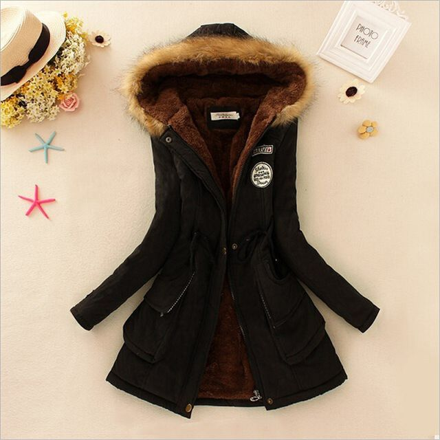 Winter women coat Women's Parka Casual Outwear Military Hooded fur Coat Down Jackets Winter Coat for Female CC001 Like and share! Visit us
