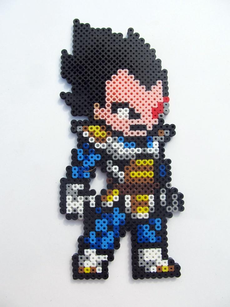 Dragon Ball Z Vegeta Perler Sprite by ShowMeYourBits on Etsy