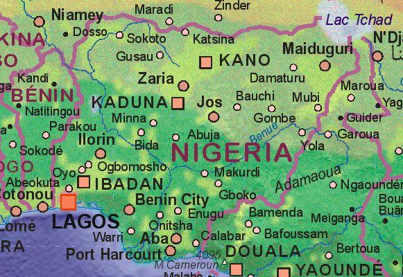 El libro electrónico como remedio a los problemas de distribución en África: Mapa Nigeria