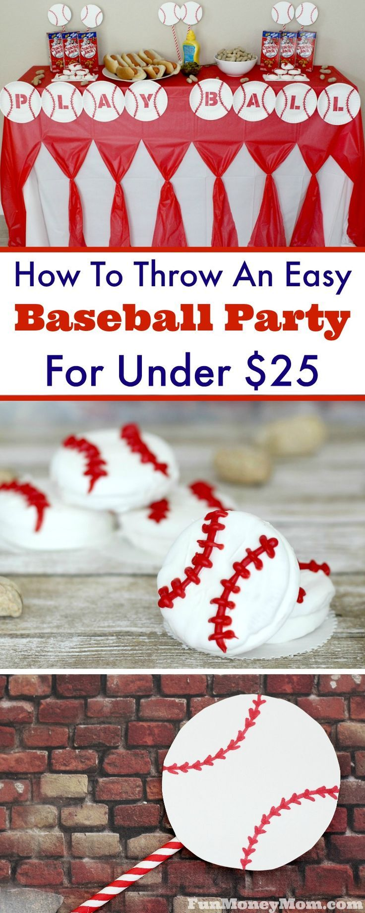 Want to plan a baseball party but don't want to break the budget? The good news is that it's really easy to do it on the cheap! From baseball food to decorations, you can throw a great party for under $25!