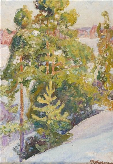 Pekka Halonen, JÄRVIMAISEMA TALVELLA, 1913, The Life and Art of Pekka Halonen - from http://www.alternativefinland.com/art-pekka-halonen/