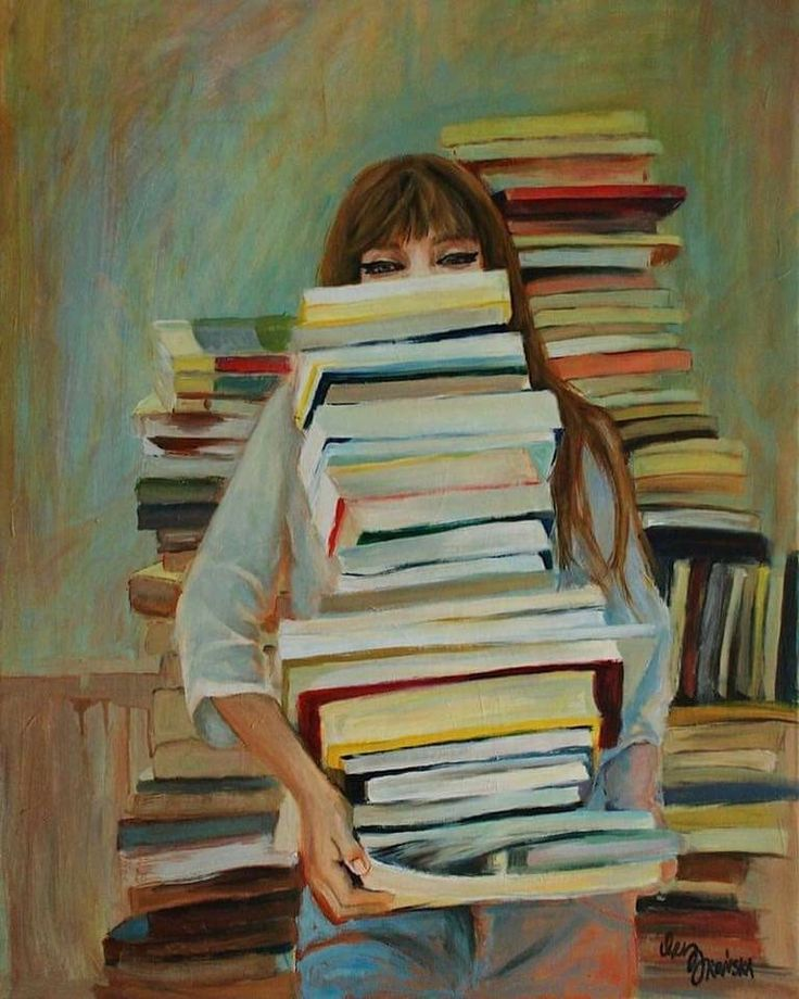 This is me at the library book sale...