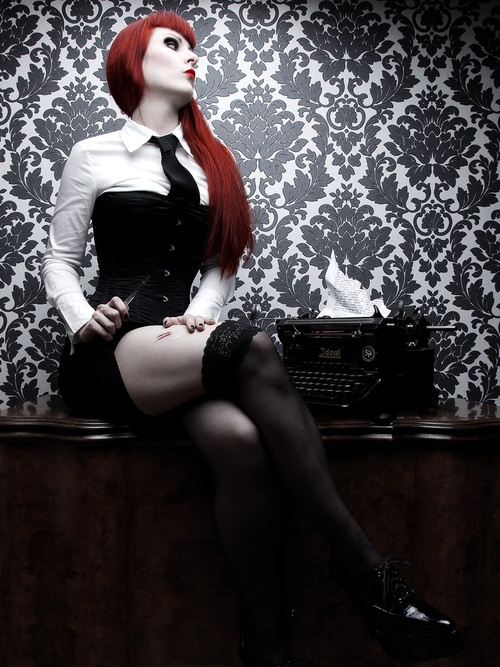 Red Hair Mistress Red Hair Red Hair Color Black Corset