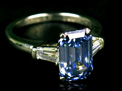 most expensive jewelry: Fancy Deep Blue Diamond Ring by Graff 2 million dollars