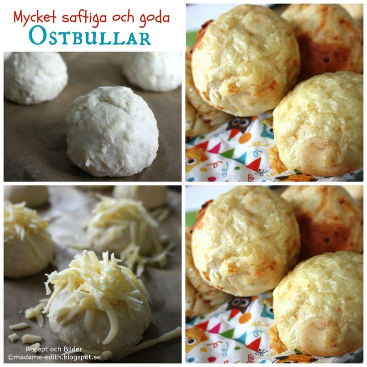 Ett riktigt bra recept på saftiga och goda ostbullar - Ingår i EDITHS BÄSTA >> (10 st) Recept 25 g jäst 2 dl mjölk 1 dl kesella ,...