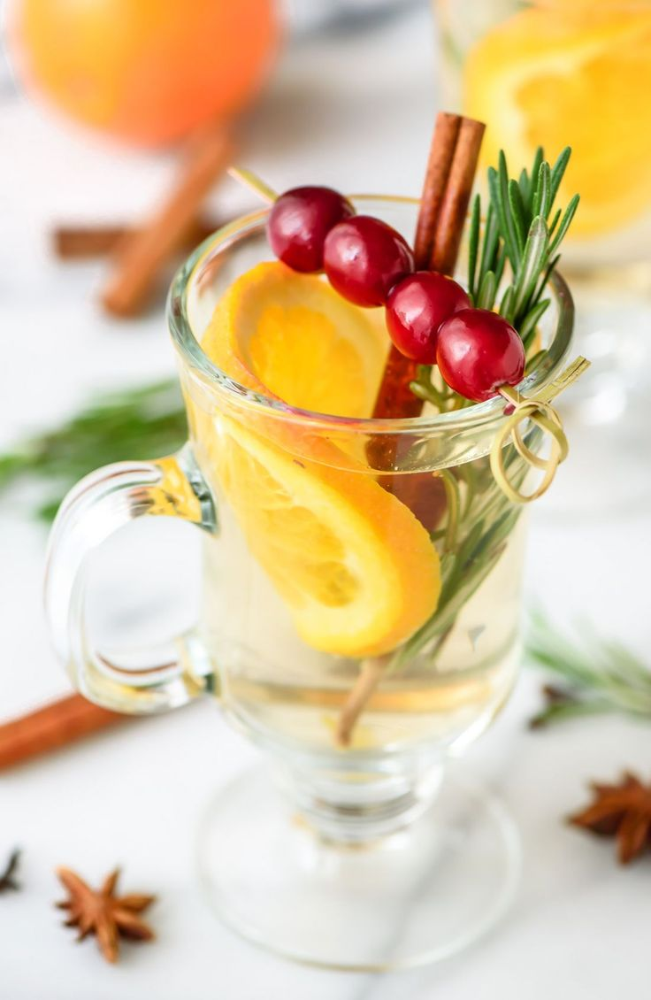 Slow Cooker White Mulled wine is the perfect drink recipe for Christmas parties!