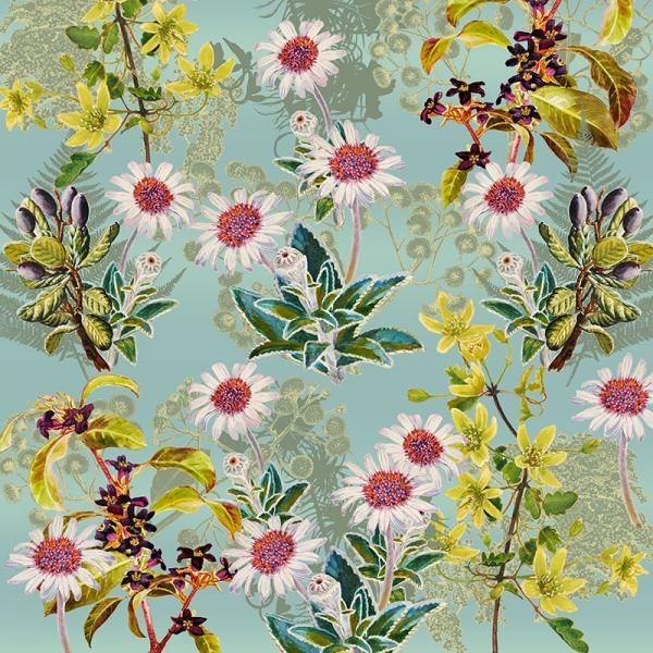 Clematis and Tree Daisies II, New Zealand Flora Series, Limited Edition, 3 sizes from NZ$145