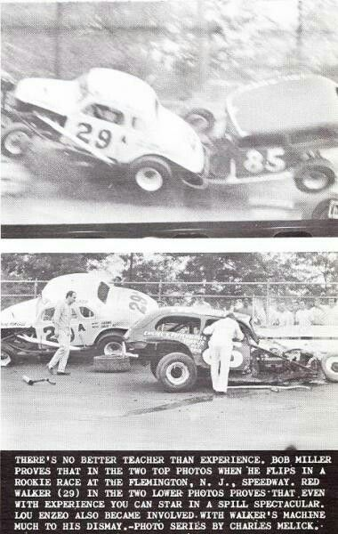 Early stock car racing action from Flemington, NJ.
