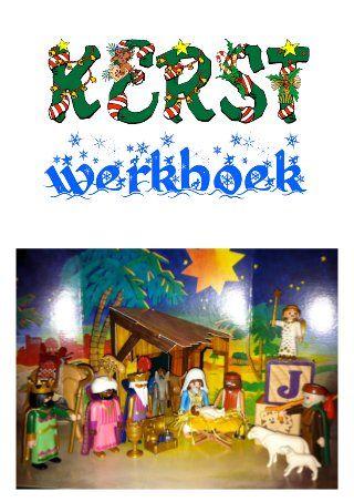Kerstverhaal uit kinderbijbel in gratis kerst werkboek over diepere betekenis van kerst werkbladen en kerstliedjes
