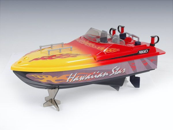 Nikko Hawaiian Star - remote controlled boat, battery operated.