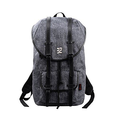 Douguyan 15 Inch Laptop Backpack Canvas Leather Backpack for Men and Women Hiking Travel Backpack 150 - http://handbags.kindle-free-books.com/douguyan-15-inch-laptop-backpack-canvas-leather-backpack-for-men-and-women-hiking-travel-backpack-150/