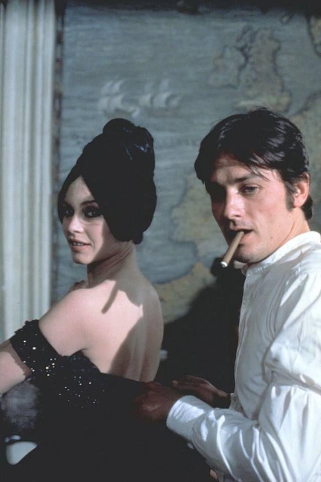 Brigitte Bardot With Alain Delon On The Set Of Spirits Of The Dead