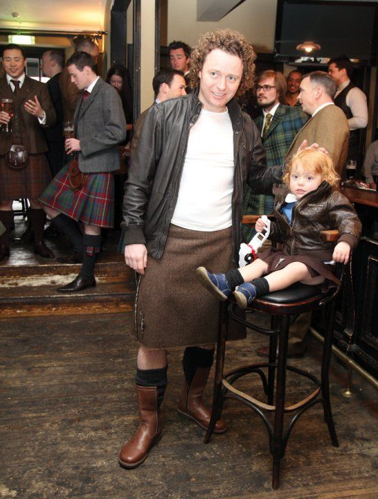 Ardalanish Tweed Kilts...and Tom Kitchen!