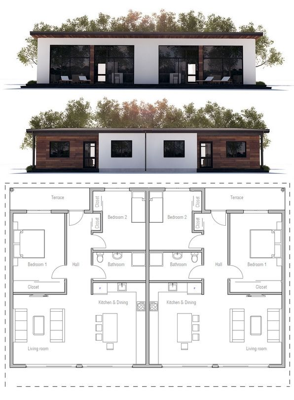 Duplex House Plan, New Home
