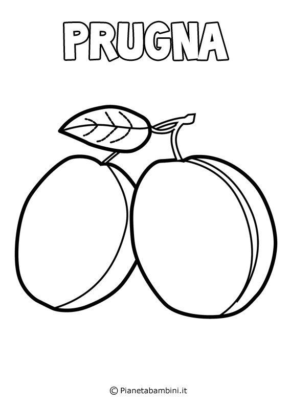Disegni Di Frutta Da Stampare E Colorare Shablony