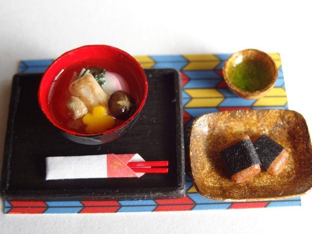 関東風雑煮と磯辺餅