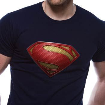 Tričko Superman, tm.modré