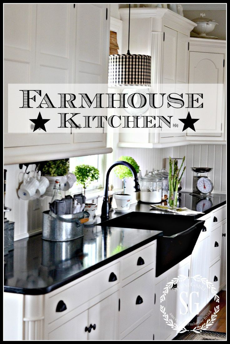 FARMHOUSE KITCHEN | White farmhouse kitchens, Kitchen ...