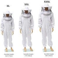 Wish | Beekeeping Veil Bee Keeping FULL BODY Suit with Removable Veil Hood HatSize:XL-XXXL